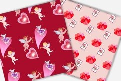Valentine's day digital paper.Seamless pattern. Product Image 2