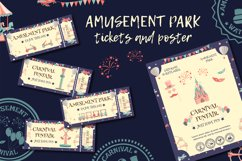 Amusement park tickets and poster. Product Image 1