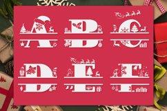 Christmas Monogram Alphabet   Christmas Split Letters Product Image 2