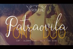 Patraovila font Duo Product Image 1