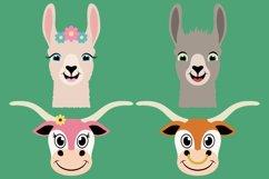 Barnyard Animal Clipart Bundle, Happy Faces, PNG, JPEG, EPS Product Image 2
