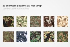 British Flecktarn Camouflage Seamless Patterns Product Image 2