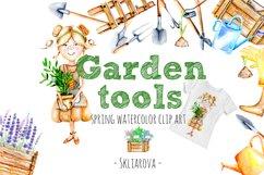 Garden tools Watercolor clip art Product Image 1