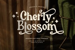 Cherly Blossom Modern Chic Serif Product Image 1