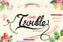 Trouble Script Font Product Image 1
