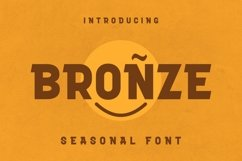 Web Font Bronze Font Product Image 1