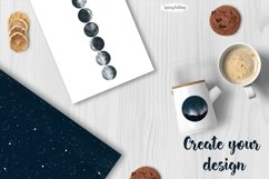Moon Phases and ConstellatiDigital art High quality clipart Product Image 4