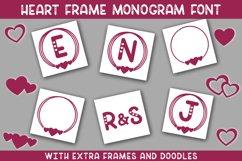 Heart Frame Monogram Font Product Image 1