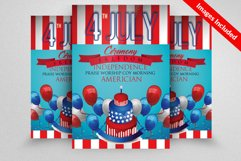 American Flag Day Celebration Flyer Product Image 1