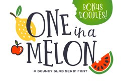 One in a Melon Font Doodles! Product Image 1