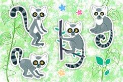 Vector Lemur Clip Art Product Image 1