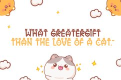 Cat Meow - Cute Display Font Product Image 3