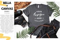T-Shirt Mockup Mega Bundle Fall Winter Bella Canvas 3001 Product Image 2