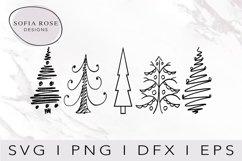 Christmas Trees SVG-Christmas SVG-Holiday SVG-Clip Art Product Image 1