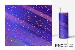 Skinny tumbler sublimation Valentines ombre design 20oz Product Image 2