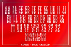 Crush - An All Caps Stacked Font - Solid & Outline Product Image 3