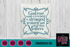 God Made Mothers SVG DXF PNG EPS Commercial Product Image 1