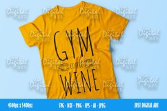Gym Coffee Wine SVG| PNG | EPS| Coffee| Digital Download Product Image 3