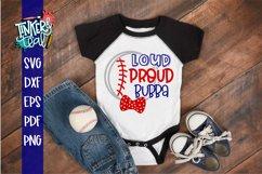Loud Proud Baseball Softball Bubba SVG Product Image 1