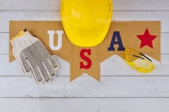 Symbol celebrating Labor Day is a federal holiday equipment Product Image 1