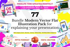 Update! Bundle 77 Pack Flat illustration PPT Product Image 1