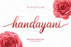 Handayani - Beutiful Script Font Product Image 1