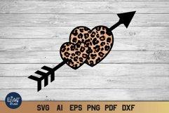 Valentines SVG   Leopard Heart SVG   Cheetah Print Design Product Image 1