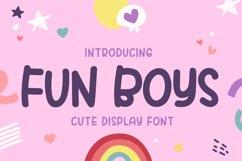 Fun Boys - Cute Dislplay Font Product Image 1