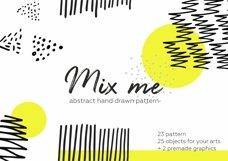 Mix me! Hand drawn patterns set. Product Image 1