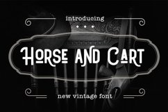 Web Font Horse and Cart Product Image 1