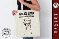 Teacher Llama Ain't Got Time For Your Drama ,SVG Drama Llama Product Image 2