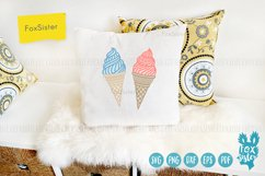 Ice cream svg, desserts svg, Ice Cream Cone svg dxf Product Image 2