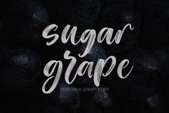 Web Font Sugar Grape Textured Script Font Product Image 1