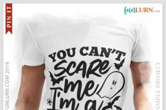 You Can't Scare Me I'm a Blank SVG Cut File Product Image 3