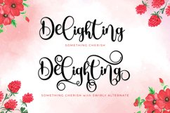 Something Cherish - Quirky Calligraphy Script Product Image 3