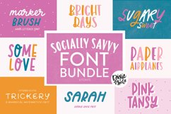SOCIALLY SAVVY Font Bundle - Dixie Type Co. Product Image 1
