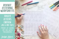 Hand Lettering Guides, Tricky Letter Combinations Worksheets Product Image 2