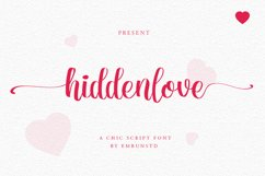 Hidden Love Script Chic font Product Image 1