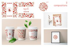 Collection with apple fruits illustration. Hand drawn sketch Product Image 5