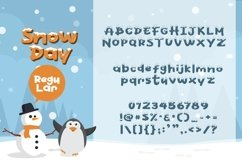 Web Font Snow Day Display Product Image 5