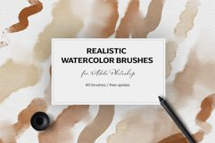 Realistic watercolor brushes Product Image 1