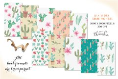 Cactus Seamless Patterns Watercolor Succulent Cacti Papers Product Image 2
