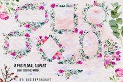 Watercolor floral frames, floral clipart, romantic borders Product Image 5