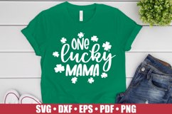 One Lucky Mama SVG files for Cricut, St Patrick's Day SVG Product Image 1