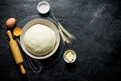 20 Photos Dough background. Dough preparation. Ingredients. Product Image 5