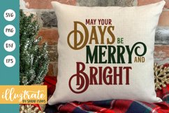 Merry and Bright SVG Cut File | Christmas SVG | Christmas Product Image 1