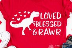 Valentines Day Svg, T-Rex Valentine, Kids Svg, Baby Boy Svg Product Image 1