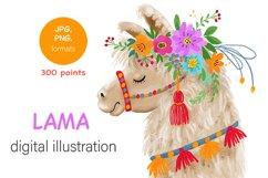 digital illustration of Llama Product Image 1