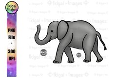 Elephant PNG Cute Baby Animal Sublimation Nursery Printable Product Image 1