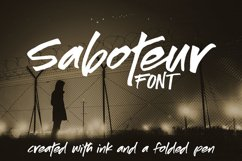 Saboteur - a moody, inky font Product Image 1